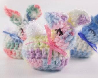 Crocheted Bunny Easter Egg set of 3