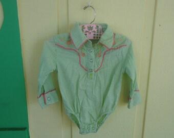 6-9 mo girls western style shirt
