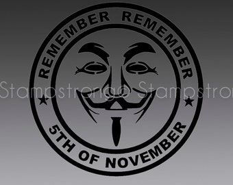 V Vendetta  Guy Fawkes decal sticker for MACBOOK Apple pro mac