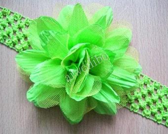 Mesh Flower Headband, Christmas Flower Headband, Baby Headband, Girl Headband,  Flower Girl