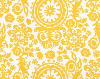 Premier Prints Suzani Corn Yellow Slub Fabric - by the Yard