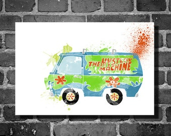 Scooby Doo vehicle movie poster minimalist poster art Mystery Machine wall art home decor