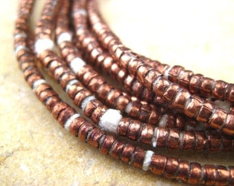 Copper Heishi Beads From the Villages of Ethiopia! African Metal Beads - Copper Spacers - Wholesale African Beads - Copper Beads 243