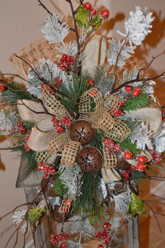 tree topper rustic tree topper christmas tree by thebloomingwreath. Black Bedroom Furniture Sets. Home Design Ideas