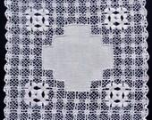 Vintage off white fabric doily