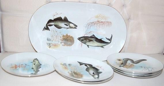 Plateau poisson fruits de mer grand l gant allemand kahla - Grand poisson de mer ...