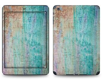 Acid Wash Wood Print - Apple iPad Air 2, iPad Air 1, iPad 2, iPad 3, iPad 4, and iPad Mini Decal Skin Cover