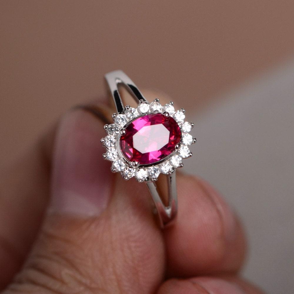 red ruby ring gemstone sterling silver fine ring promise ring. Black Bedroom Furniture Sets. Home Design Ideas