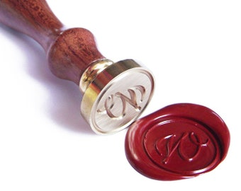 MODERN CALLIGRAPHY A to Z Initial Letter wax seal stamp