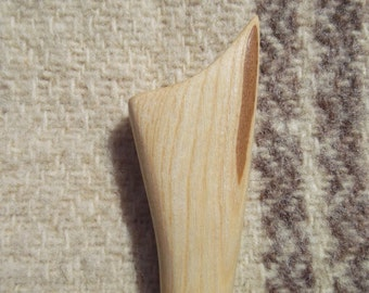Wooden hair stick Wood hair stick 1 Prong Hand carved Hair accessory stick Eco friendly Hair stick wood