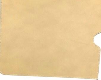 Handmade Italian Premium Leather iPad Sleeve in Beige