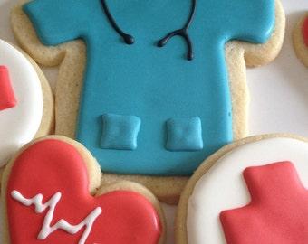"""1 Dozen assorted """"Nursing/Medical"""" cookies"""