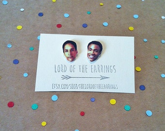 Troy and Abed - Community - Stud Earrings