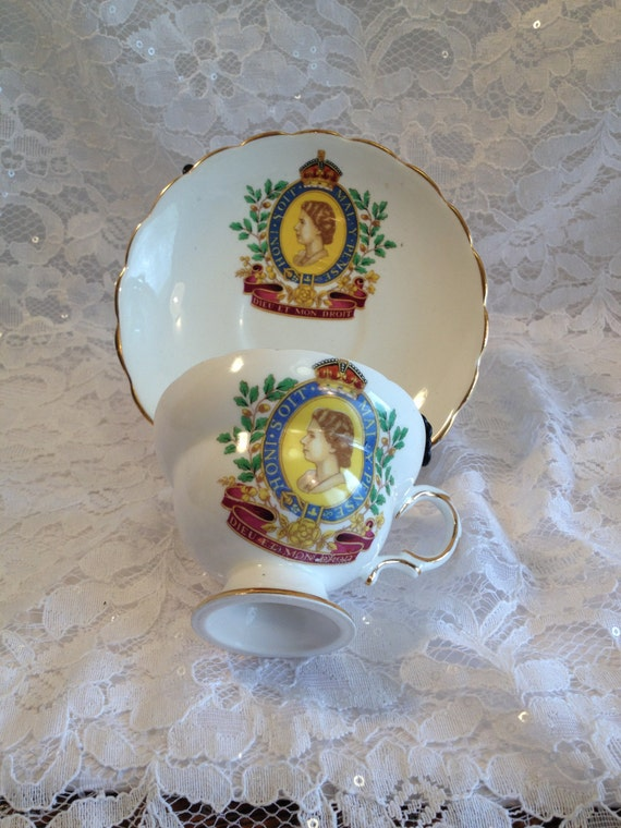 1953 Queen Elizabeth Ii Coronation Bone China Tea Cup And