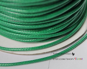 Sale 100 Yards/Roll 2mm Green Wax Cords, Environmental Protection Wax Cords WS212
