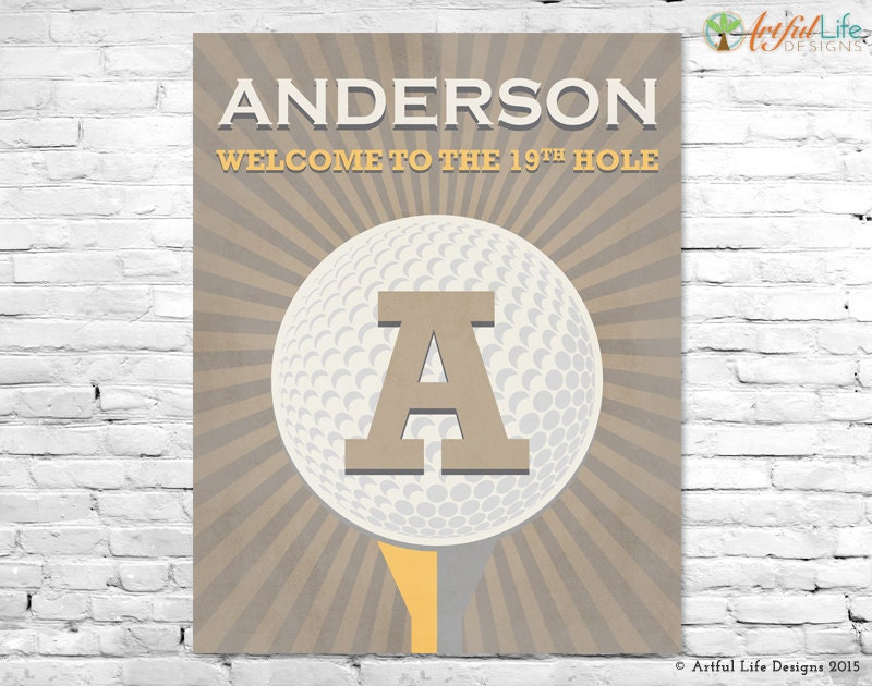 Golf Home Decor Personalized Golf Theme Wall Art Gift For