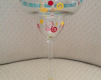Gluten Free Margarita Glass - Personalized Margarita Glass - Custom Margarita Glass
