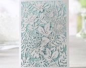 Charming Laser Cut Garden - Wedding Invitation Sample (HB11648)