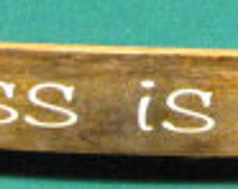 """Oak Whiskey / Wine Barrel Stave Sign. """"Happiness is homemade"""""""