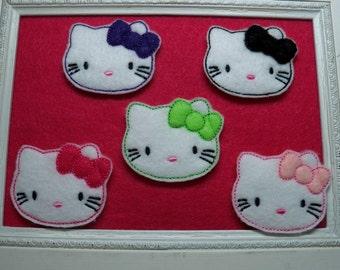 Kitty Feltie, Choice of Bow Color Super Cute