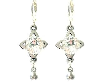 Silver Swarovksi Earrings