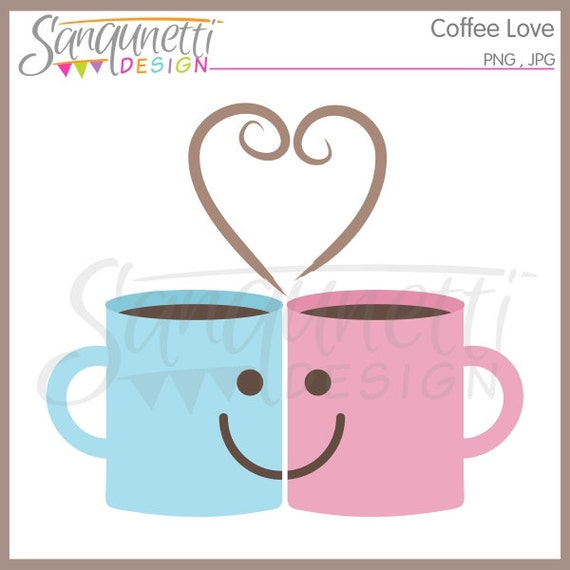 Coffee Love Clipart Commercial Use License Included