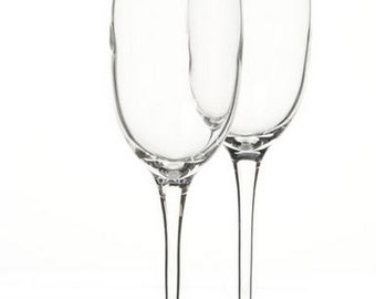 FREE SHIPPING - Monogrammed Champagne Glasses - Set of 2