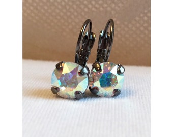 ANY COLOR: Stud or Drop/Lever Back Swarovski Crystal Earrings (8mm)