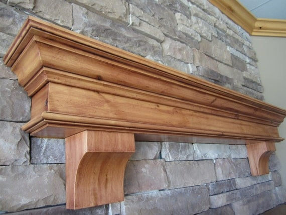 Fireplace Mantel Floating Wood Custom Sized Amp Stained Built By