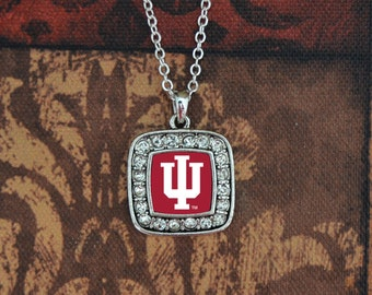 Indiana Hoosiers Square Necklace