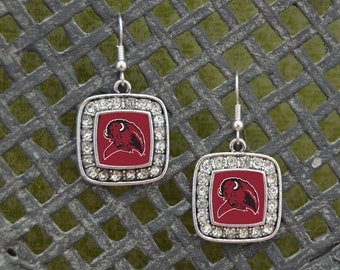West Texas A&M Buffaloes Square Earrings