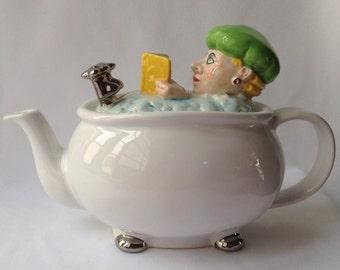 Price Kensington Lady Reading in Bath Tub Tea Pot