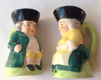 Colonial Figural Salt and Pepper Shakers