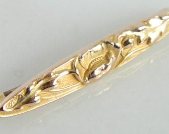 Wonderful Vintage 14K Gold Floral Blossom Pin