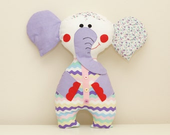 Elephant Sewing Pattern PDF Instant Download Plush Stuffed Toy Tutorial. Fabric elephant pattern. Elephant PDF