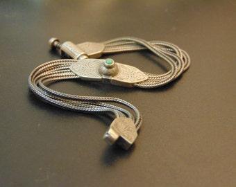 Beautiful silver and turquoise vintage bracelet-Antique silver bracelet-Byzantine jewelry-Artisan bracelet-Greek art