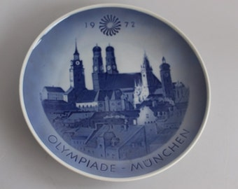 Vintage 1972 Olympic Games Plate Olympiade Munchen Royal Copenhagen