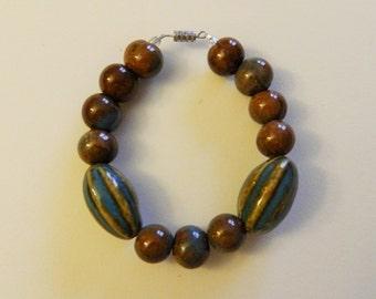 Aqua/Honey Ceramic Bracelet