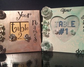 table number signs, wedding table numbers, wedding reception, table number frames, wedding decor, table numbers, custom table numbers