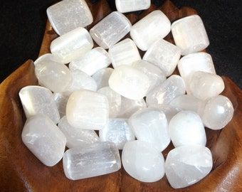 Tumbled Selenite Gemstone  / Tranquility / Peace / Grace / Protection