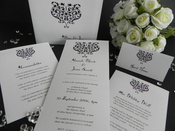 Modern Wedding Invitation Poems : heart modern wedding invitation sample DL size with generic wording ...