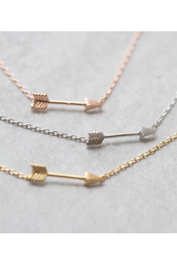 arrow charm bracelet by lovoda on etsy