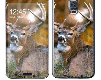 Skin Decal Wrap for SamsungGalaxy Note5 S6 Edge+ S6 S5 S4 S3 Note Edge Note 4 & 3 AlphaG850 Vinyl Cover Sticker Skins Deer
