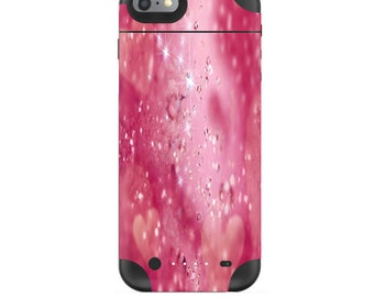 Skin Decal Wrap for Mophie H2Pro iPhone 6/6+ LG G4 Air iPhone 6  5 iPhone 4 Galaxy S6 Edge S7 Edge Vinyl Cover Skins Pink Diamonds