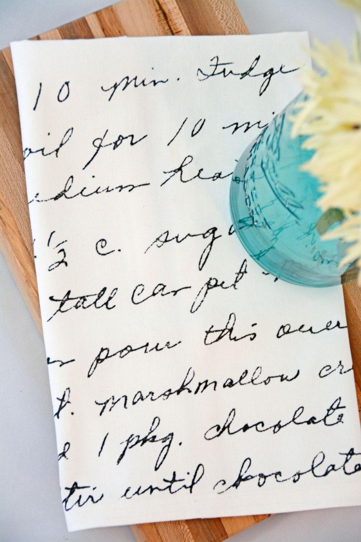 Wedding Gift Tea Towels : Recipe Tea Towel Wedding Shower Gift Custom by AldaandCompany
