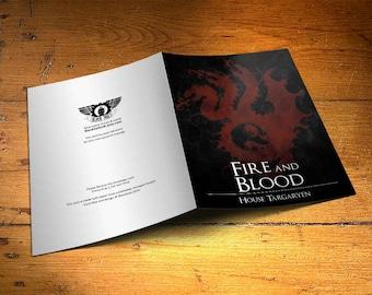 Game of Thrones Card - House Targaryen  - Wall Decor, Inspirational Print, Home Decor, Gift