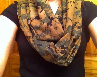Military Camouflage Scarf. All branches available. ABU, ACU, Marpat Woodland and Desert, NWU Type 1 and Type 3, MultiCam