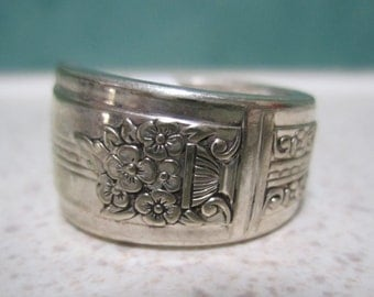Vintage Spoon Ring - Size 7 or O