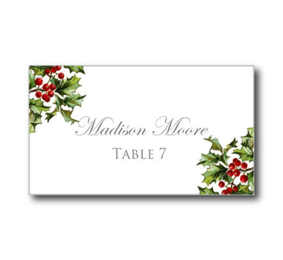 Winter Wedding Place Cards Christmas Wedding By ClearyLane