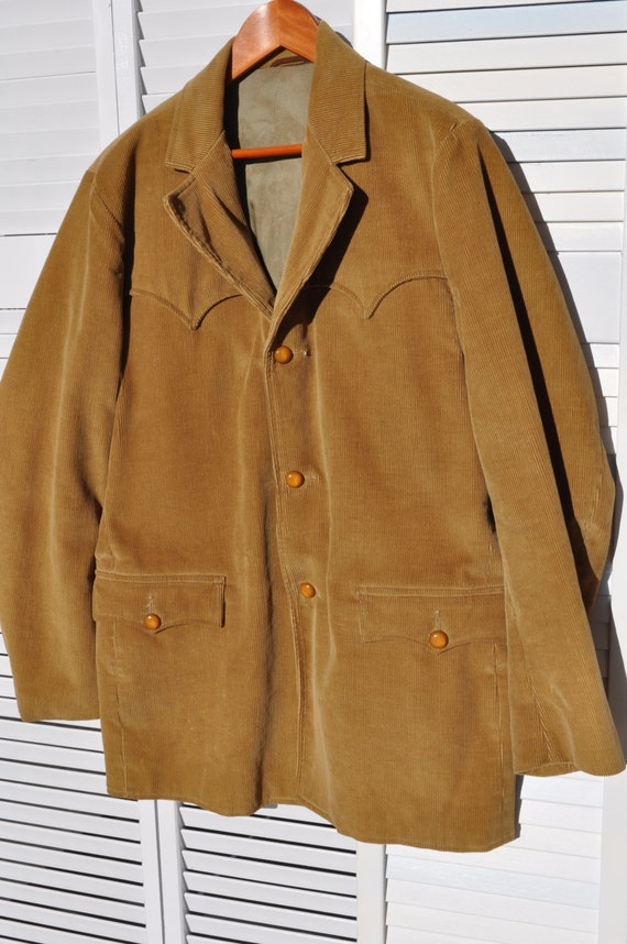 Men's Pioneer Wear Corduroy Western Sports Coat Jacket